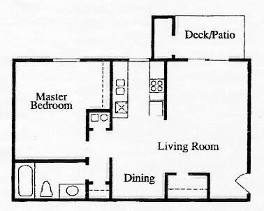 1 Bedroom / 1 Bath / 720 Sq.Ft.