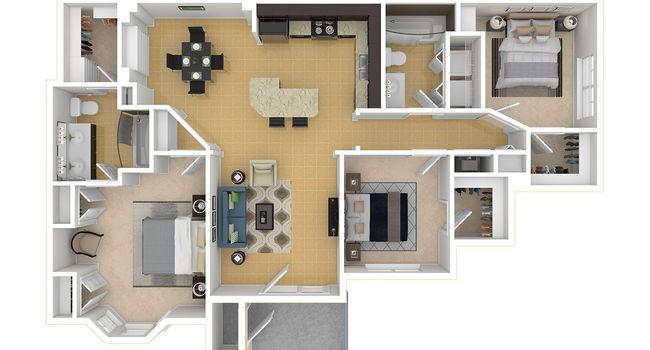3 Bedroom / 2 Bath / 1342 Sq.Ft.