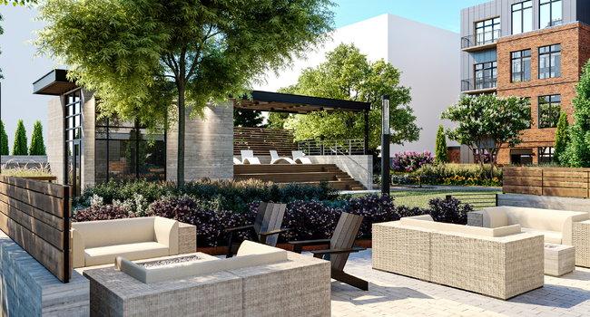 Outdoor Lounge Rendering