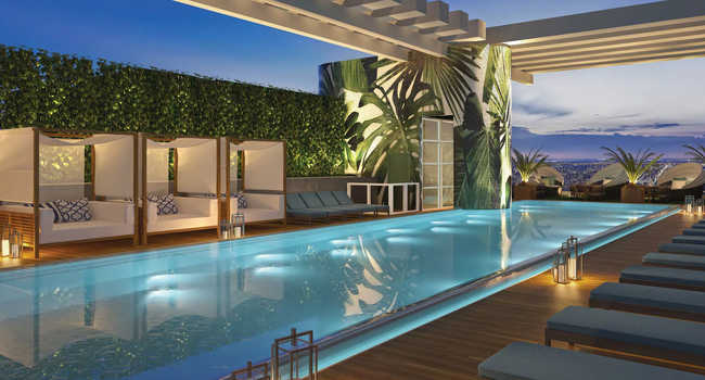 Rooftop hotel-inspired pool