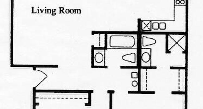 2 Bedroom / 2 Bath / 1020 Sq.Ft.