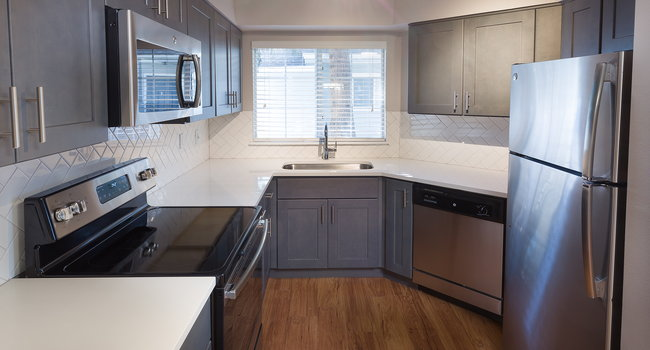 Renovated kitchens with premium finishes are available for upgrade. Ask the leasing team for more details.
