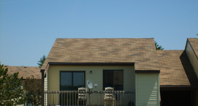 Shingles missing from roofs