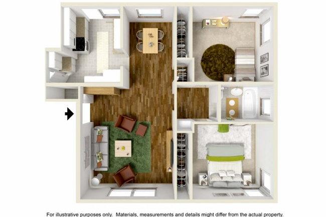 Floor Plan Photo Of Wyvernwood Garden Apartments In Los Angeles Ca