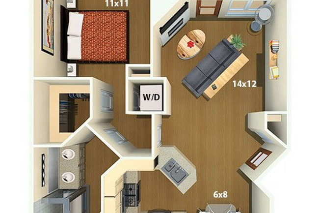 Floor Plan Photo Of The Palazzo Communities In Los Angeles Ca