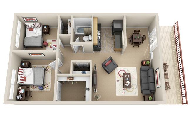 Floor Plan Photo Of Tiger Village In Columbia Mo