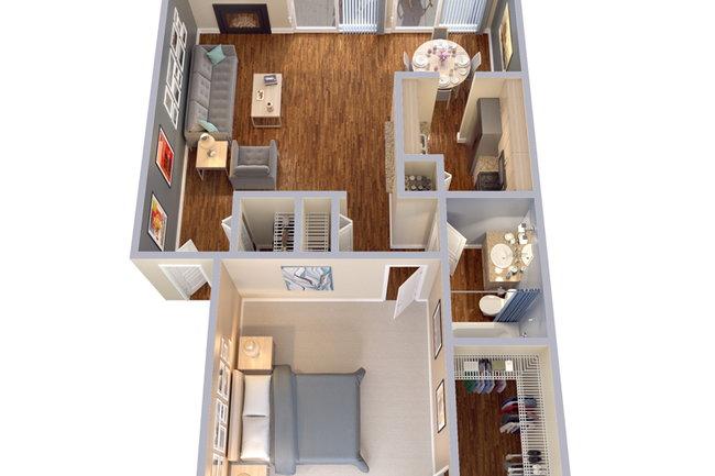 Floor Plan Photo Of Snug Harbor In Dallas, TX